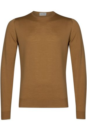 JOHN SMEDLEY Women Sweaters - Lundy Pullover - Camel