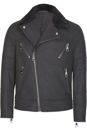 Neil Barrett Fur Collar Biker Jacket