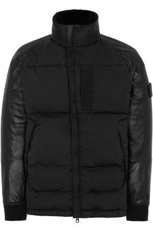 Stone Island 002F3 Featherweight Leather Stretch Wool Nylon Down Ghost Piece Jacket