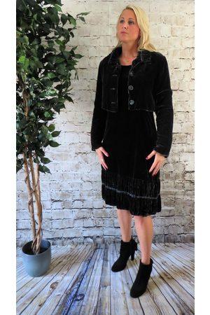 Out Of Xile Women Boleros - Silk Velvet Bolero Jacket in Pewter