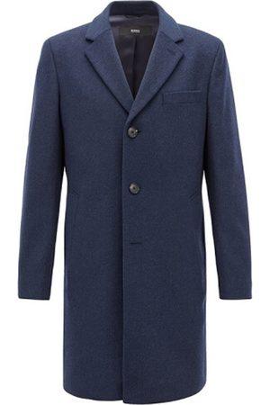 HUGO BOSS Men Coats - NYE2 Indigo Cashmere and Wool Overcoat 50394082