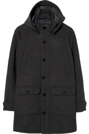 GANT Charcoal Melange Wool Duffel Style Parka 7001543