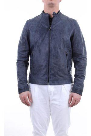 EMANUELE CURCI Men Leather Jackets - MEN'S SAMVINTAGEAVION LEATHER OUTERWEAR JACKET