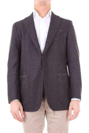 LUIGI BORRELLI NAPOLI Men Leather Jackets - MEN'S MILANO4071GRIGIO GREY LEATHER BLAZER