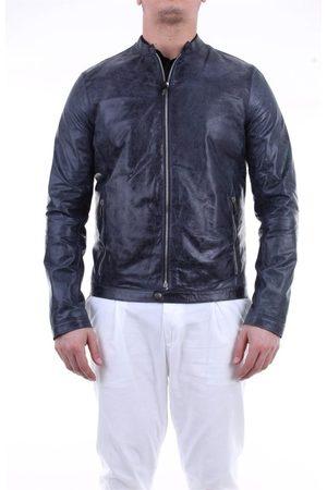 EMANUELE CURCI Men Leather Jackets - MEN'S LUCAVINTAGEAVION LEATHER OUTERWEAR JACKET