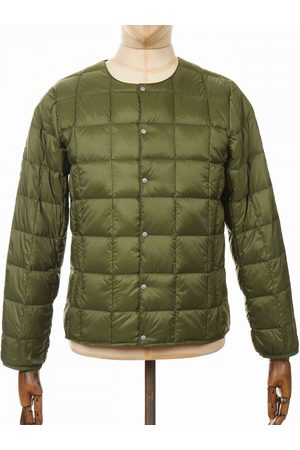 TAION Crew Neck Button Down Jacket - Olive