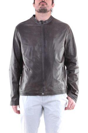 EMANUELE CURCI Jackets Leather jackets Men Grey