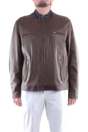 EMANUELE CURCI Jackets Leather jackets Men Tortora