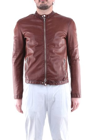 EMANUELE CURCI Men Leather Jackets - Jackets Leather jackets Men Tobacco