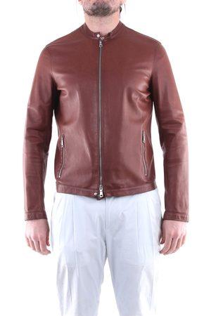 EMANUELE CURCI Jackets Leather jackets Men Tobacco