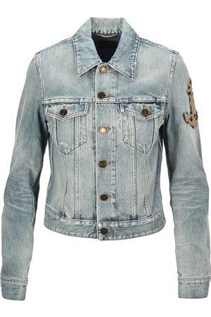 Saint Laurent Anchor patch denim jacket