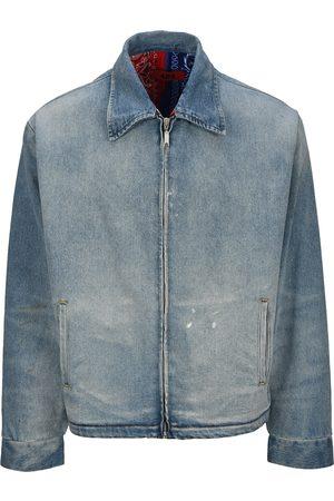 Men Denim Jackets - Zip-up denim jacket