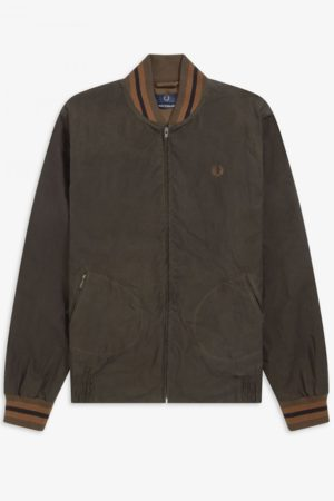 Fred Perry J9801 Made in England Waxed Bomber - Bitter Chocolate