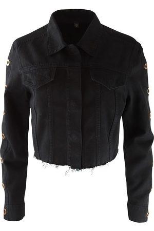 J Brand Cropped Cyra Denim Jacket with Rose Gold Ring Hardware