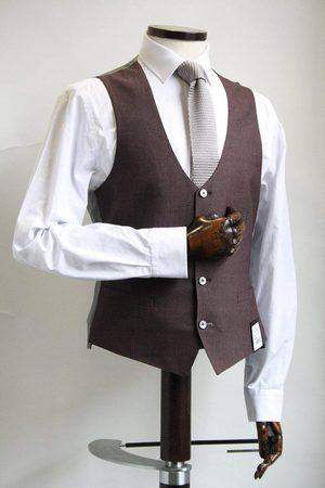 Remus Uomo Lazio Burgundy & Grey Waistcoat