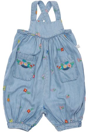 Stella McCartney Girls Dungarees - Embroidered Lyocell Overalls