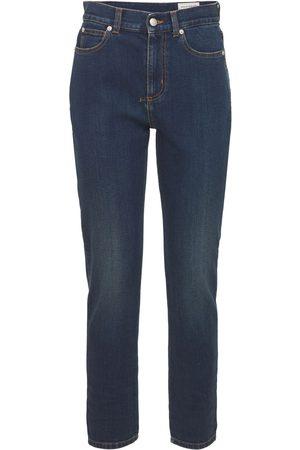 Alexander McQueen Denim Fitted Stretch Jeans