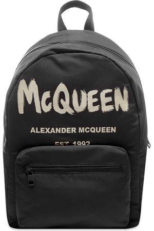 Alexander McQueen Men Laptop Bags - Graffitti Logo Backpack