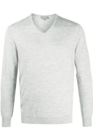 N.PEAL Fitted v-neck jumper - Grey