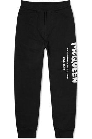 Alexander McQueen Men Sweatpants - Graffiti Logo Sweat Pant