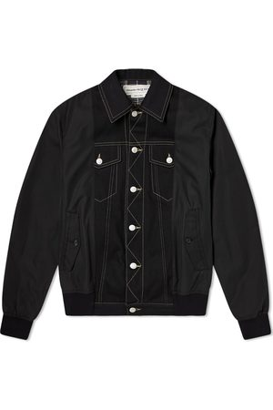 Alexander McQueen Men Bomber Jackets - Hybrid Bomber Denim Jacket