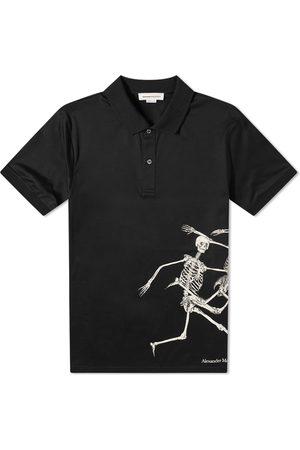 Alexander McQueen Men Polo Shirts - Dancing Skeleton Polo