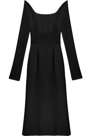 Carolina Herrera Women Strapless Dresses - Off-shoulder fitted midi dress