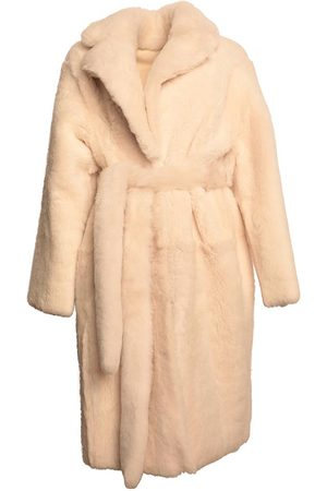 KARL DONOGHUE Women Jackets - Reversible Shearling Belted Coat