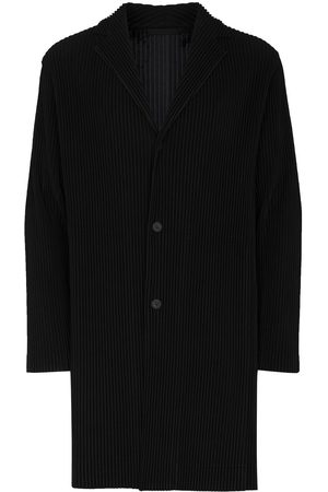 HOMME PLISSÉ ISSEY MIYAKE Pleated button-front coat