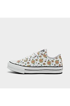 Converse Girls Platform Sneakers - Girls' Big Kids' Sunflower EVA Platform Chuck Taylor All Star Casual Sneakers in / Size 3.5 Canvas