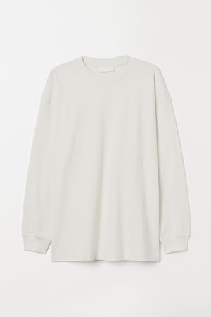 H&M Long-sleeved Cotton T-shirt