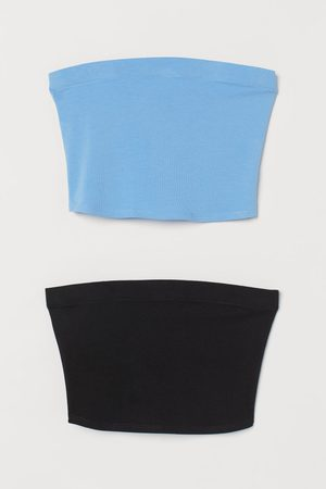 H&M Women Crop Tops - 2-pack Crop Tube Tops