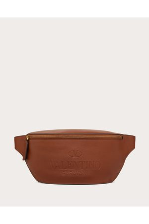 VALENTINO GARAVANI Men Bags - Valentino Garavani Identity Leather Belt Bag Man Saddle 100% Pelle Di Vitello - Bos Taurus OneSize