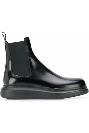 Alexander McQueen MEN'S 586198WHX521000 LEATHER ANKLE BOOTS