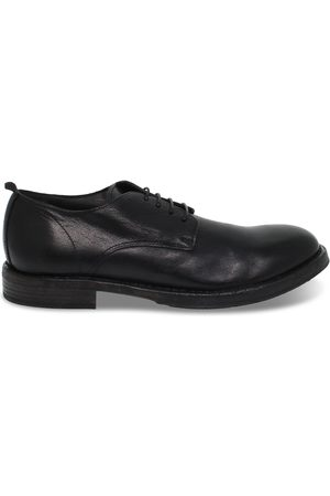 Moma Men Shoes - MEN'S 2AW003BLACK LEATHER LACE-UP SHOES
