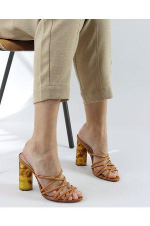 Schutz Women Shoes - Inca & Tortoiseshell Heeled Mule
