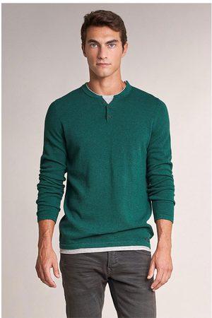 Salsa Men Sweaters - Button Neck Jumper S