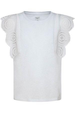 Pepe Jeans Girls Short Sleeve - Esther Short Sleeve T-shirt 10 Years Optic
