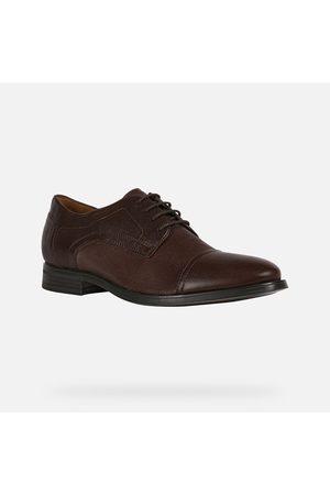 Geox REZZONICO Coffee Leather Shoes U158QB0TURMC6009