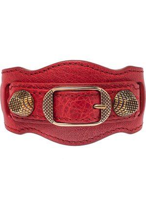 Balenciaga Women Bracelets - Leather Arena Giant Studded Rose Gold Tone Bracelet