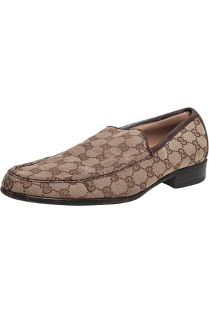 Gucci /Brown GG Canvas Loafers Size 43