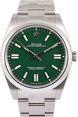 Rolex Men Watches - Stainless Steel Oyster Perpetual Men's Wristwatch 41 MM