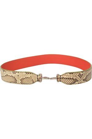 Fendi Women Purses - /Brown Python Strap You Shoulder Strap
