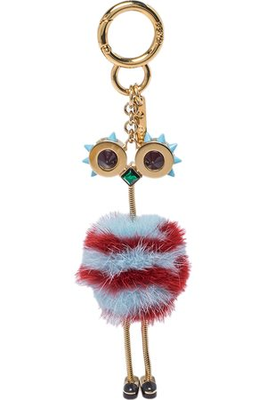 Fendi /Red Mink Fur Ostrich Bag Charm