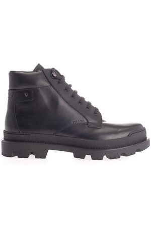Prada MEN'S 2TG145LO9F0002 LEATHER ANKLE BOOTS