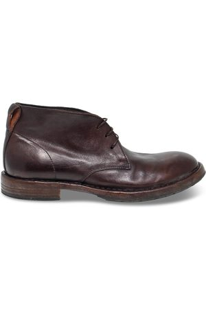Moma MEN'S 2BW006BROWN LEATHER ANKLE BOOTS