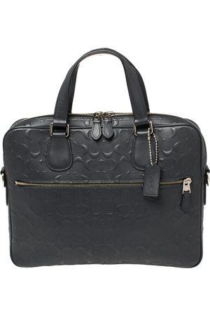 Coach Men Laptop Bags - Dark Signature Leather Hudson 5 Laptop Bag