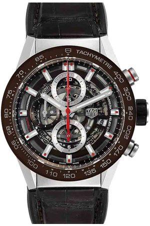 Tag Heuer Stainless Steel Carrera Skeleton Chronograph CAR201U Men's Wristwatch 43 MM