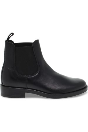 ANTICA CUOIERIA WOMEN'S ANTIC22256BLACK LEATHER ANKLE BOOTS