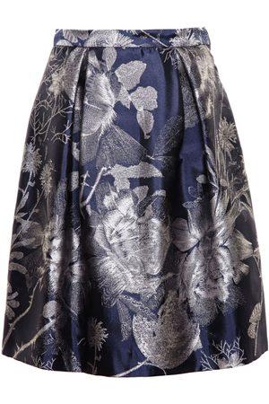 Alice Archer Beth V Floral Jacquard Skirt - Midnight